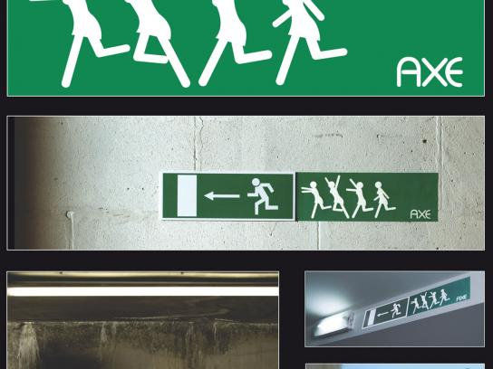 Axe Ambient Ad -  Emergency Exit sign