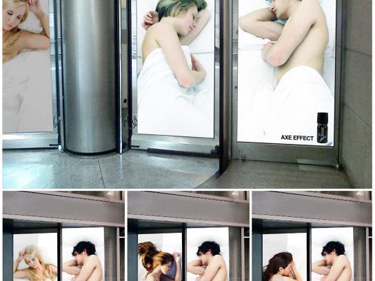 Axe Outdoor Ad -  Revolving Doors