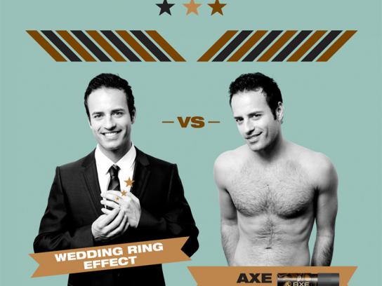 Axe Print Ad -  Wedding ring effect