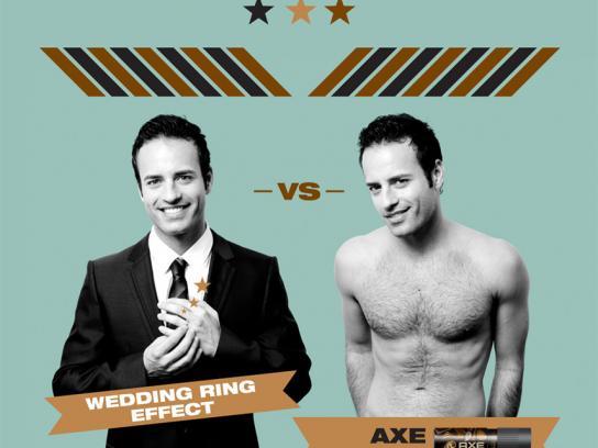 Axe Print Ad -  Wedding ring effect