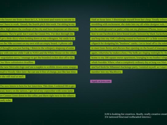 Jung von Matt Print Ad -  JvM Recruiting