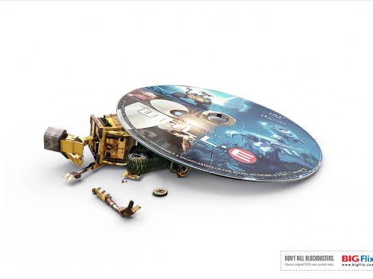 Big Flix Print Ad -  Wall-E