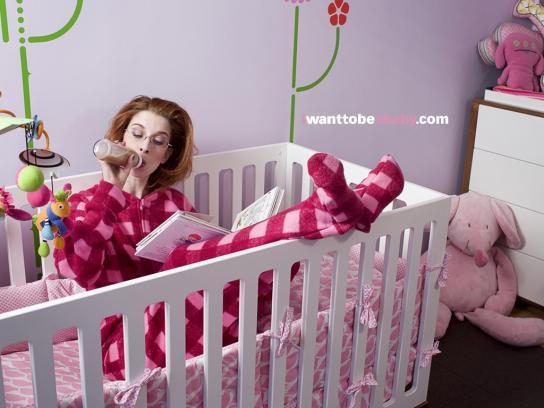 Egg Baby Print Ad -  Crib