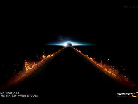 Sascar Print Ad -  Back to the future