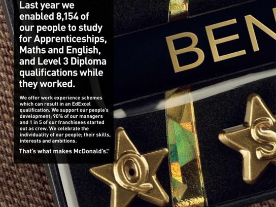 McDonald's Print Ad -  That's what makes McDonald's, Badge