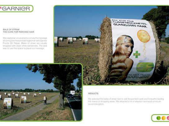 Garnier Outdoor Ad -  Bale Of Straw