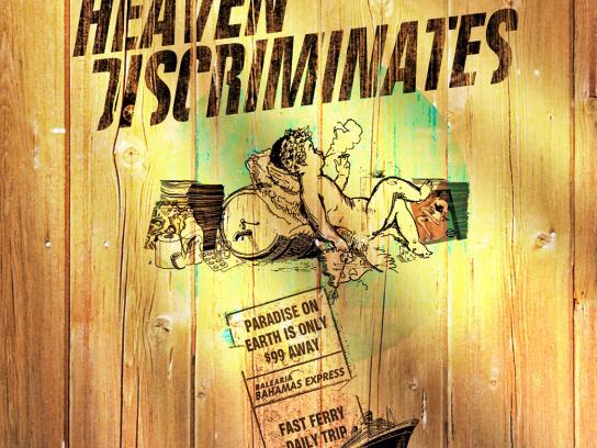 Balearia Print Ad -  Heaven Discriminates