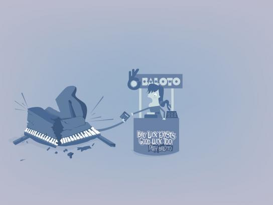 Baloto Print Ad -  Piano