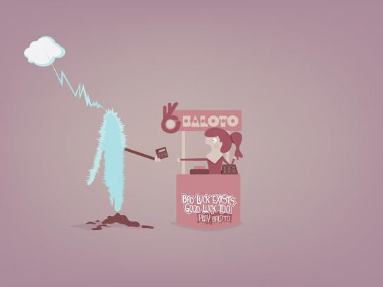 Baloto Print Ad -  Electrocuted