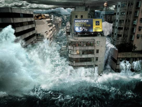 Banco Financiero Print Ad -  Flood