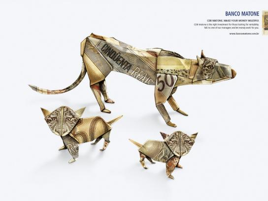 Matone Bank Print Ad -  Leopards