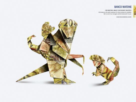 Matone Bank Print Ad -  Monkeys