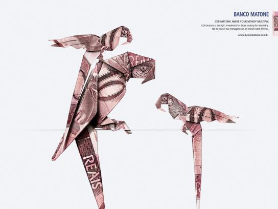 Matone Bank Print Ad -  Parrots