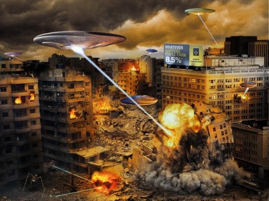 Banco Financiero Print Ad -  Space attack