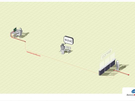 Banco AV Villas Print Ad -  Fiber optics