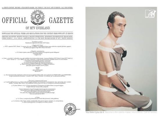 MTV Print Ad -  Official gazette