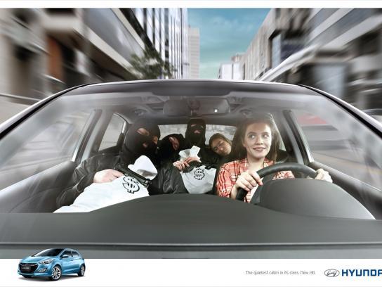 Hyundai Print Ad -  Bank Robbers