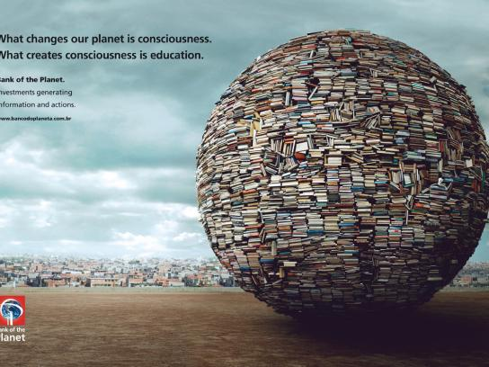 Bank of the Planet Print Ad -  Education