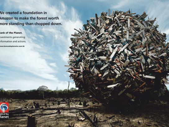 Bank of the Planet Print Ad -  Forest