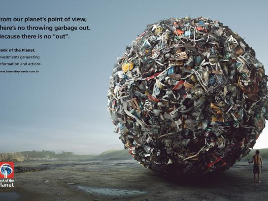 Bank of the Planet Print Ad -  Garbage