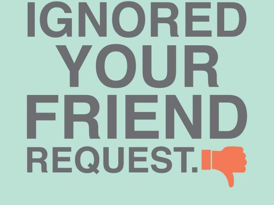 CO-OP Financial Services Print Ad -  Friend request