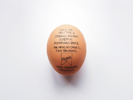 Steggles Print Ad -  Egg