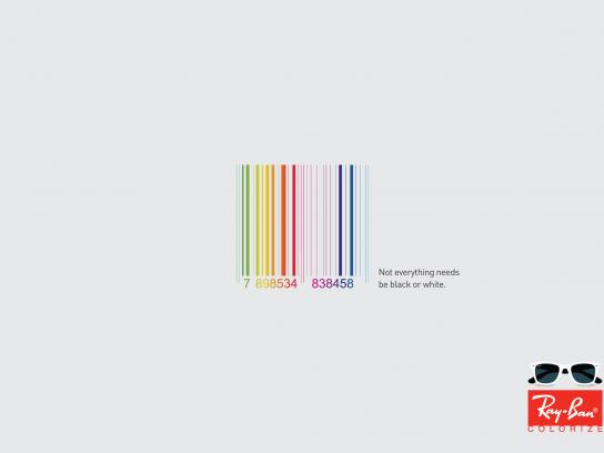 Ray-Ban Print Ad -  Black or White, Barcode