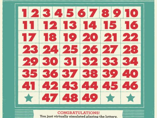 Washington Lottery Outdoor Ad -  Pick 6 numbers