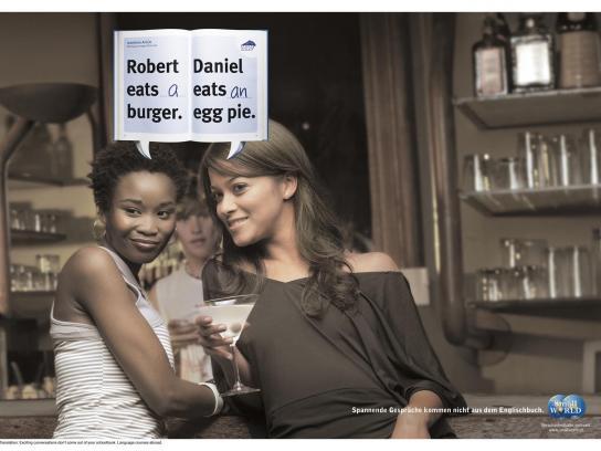 Small World Print Ad -  Bar