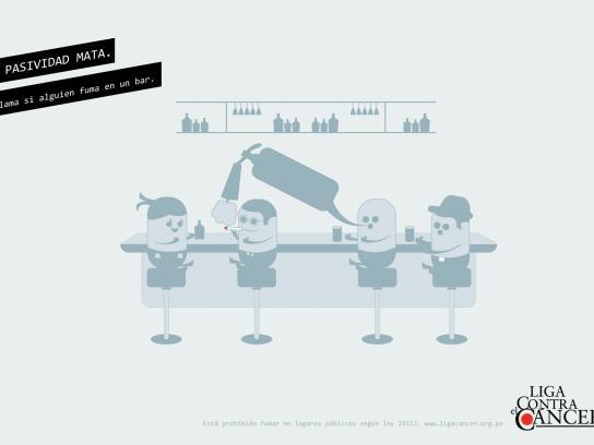 Liga Contra el Cancer Print Ad -  Bar