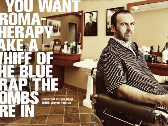 Universal Barber Shop Print Ad -  Aromatherapy