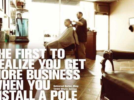 Universal Barber Shop Print Ad -  Pole