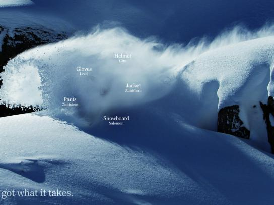 Bardill Print Ad -  Action, Snowboard