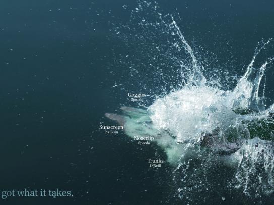 Bardill Print Ad -  Action, Swimming