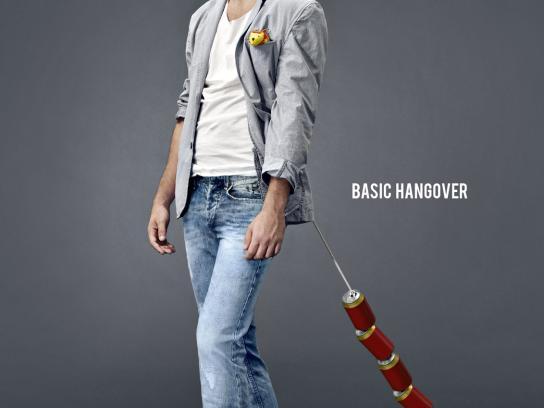 Basics 029 Print Ad -  Hangover