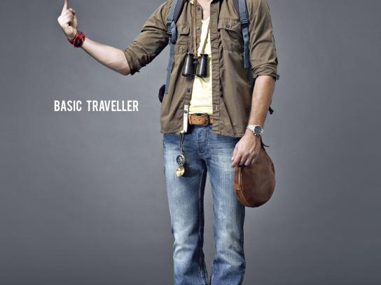 Basics 029 Print Ad -  Traveller