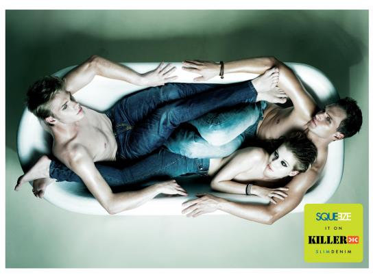 Killer Jeans Print Ad -  Bathtub