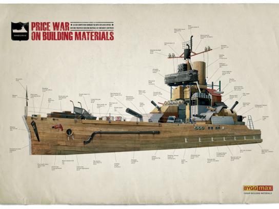 Byggmax Print Ad -  Price war, Battleship