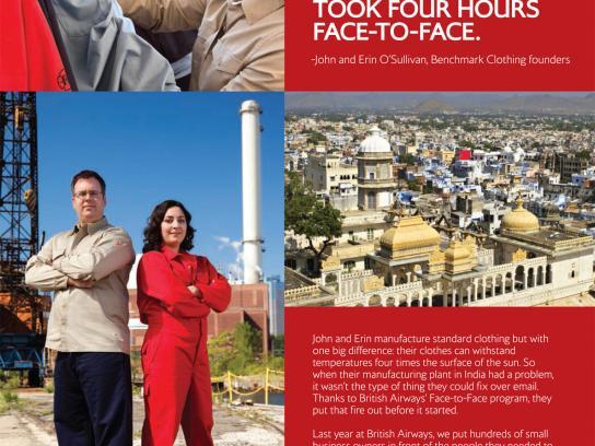 British Airways Print Ad -  Face-to-Face Program, 5