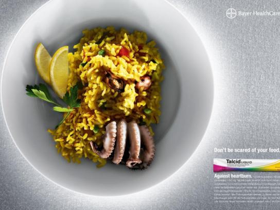 Talcid Print Ad -  Paella