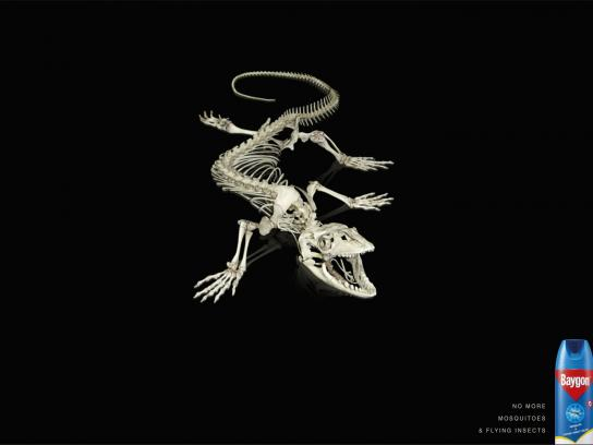 Baygon Print Ad -  Gecko