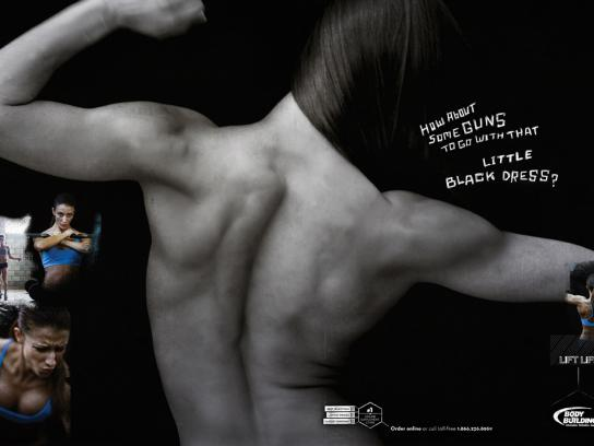 Bodybuilding.com Print Ad -  Lift life, Guns