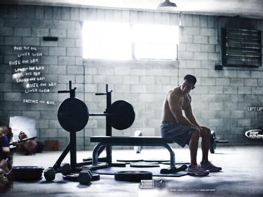 Bodybuilding.com Print Ad -  Lift life, Raising