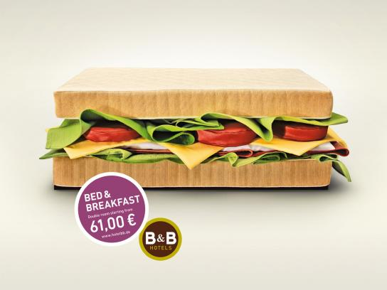 B&B Hotels Print Ad -  Sandwich