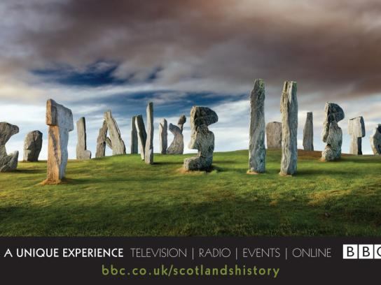 BBC Outdoor Ad -  Scotland's History, 2