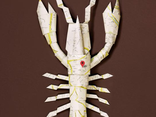 Hungry Go Where Print Ad -  Origami Lobster