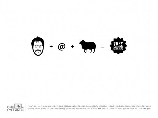 One Eyeland Print Ad -  The Formula, BBH