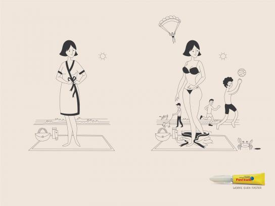Fevi Kwik Print Ad -  Beach