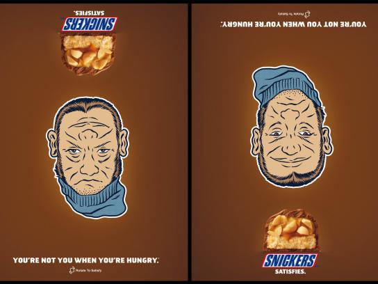 Snickers Print Ad -  Beanie Face