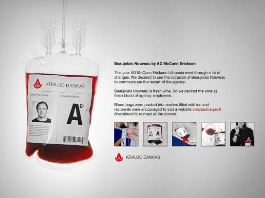 McCann Direct Ad -  Blood bags